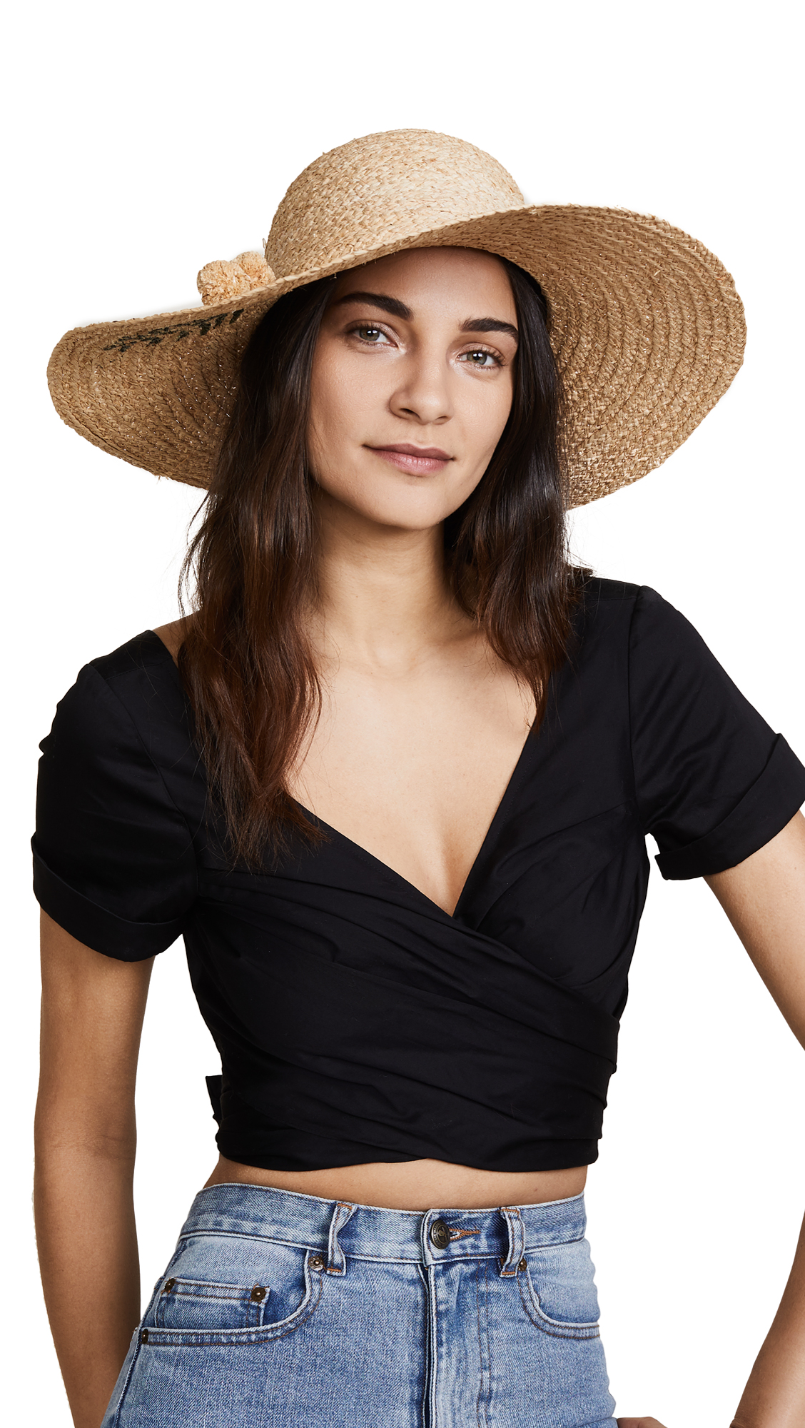 Hat Attack Painted Palm Sunhat - Natural