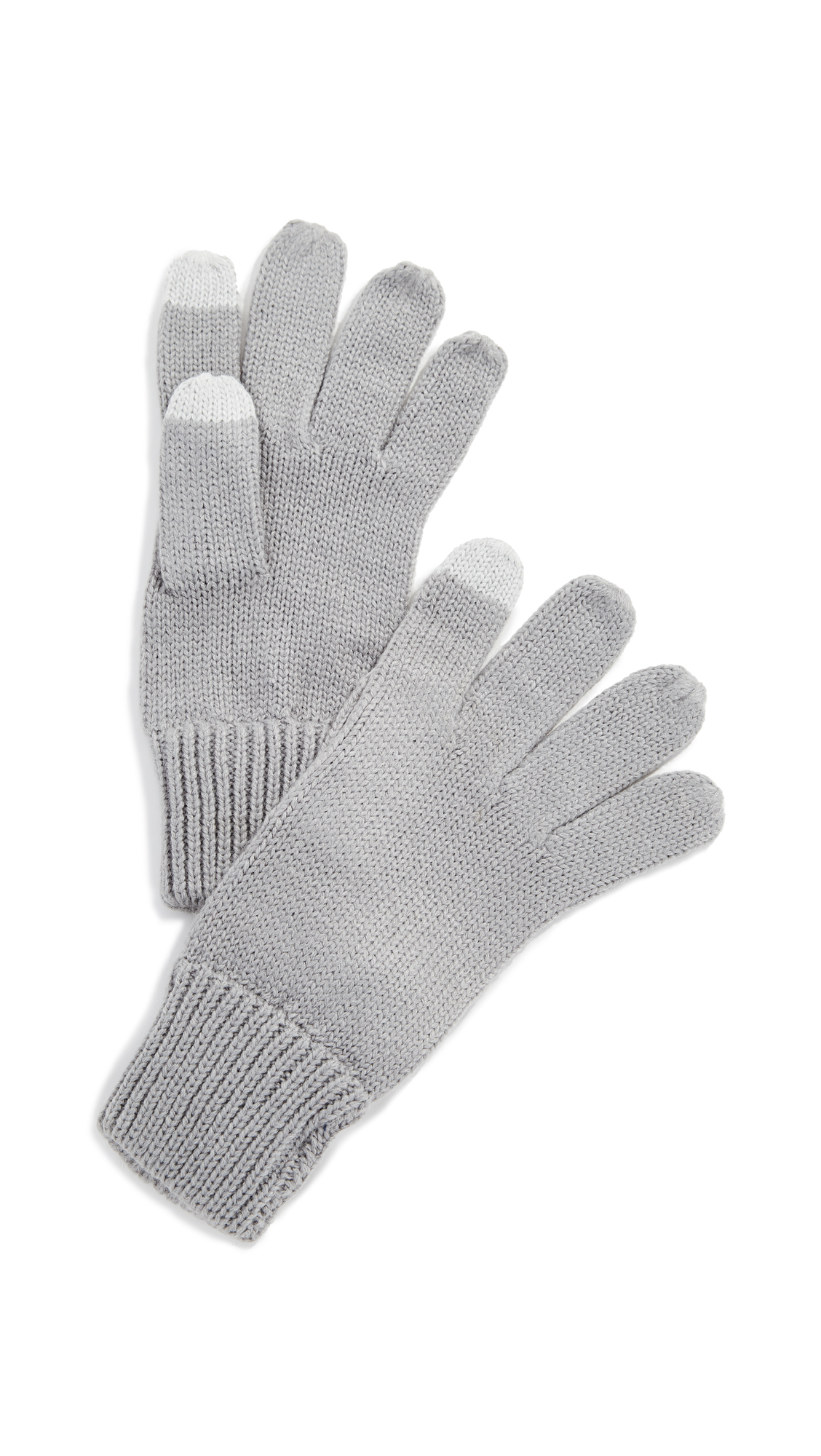 HAT ATTACK Basic Texting Gloves in Grey