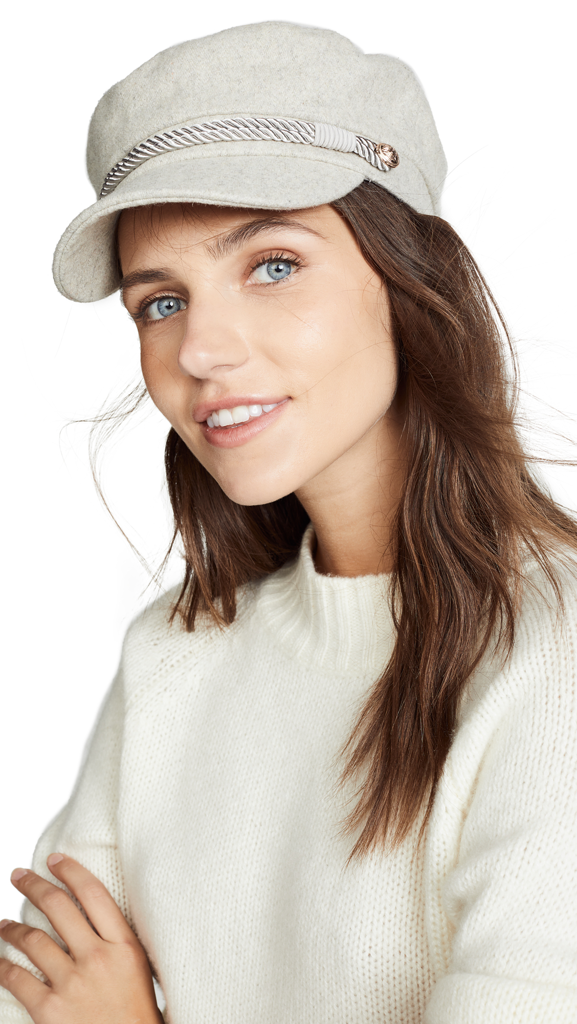 Emmy Cap With Interchangeable Rope Band, Oatmeal