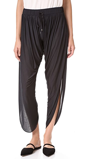 Haute Hippie Draped Jersey Harem Pants