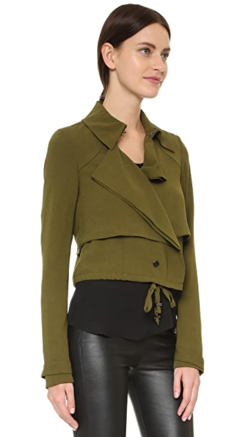 Haute Hippie Cropped Trench Jacket