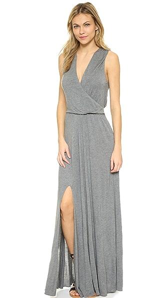 Haute Hippie Wrap Front Dress - Charcoal Heather Grey