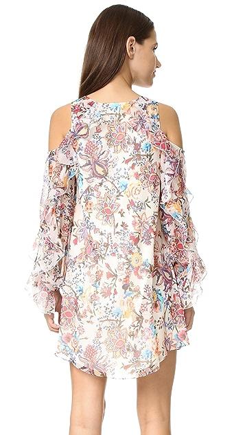 Haute Hippie Flowers in the Sun Cold Shoulder Dress