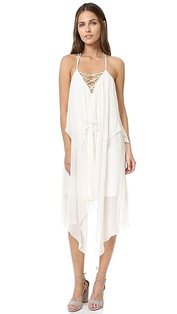 Haute Hippie Two Tier Strappy Dress