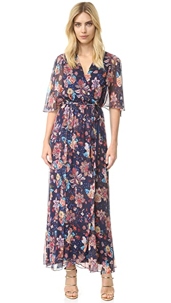 Haute Hippie Flutter Sleeve Gown