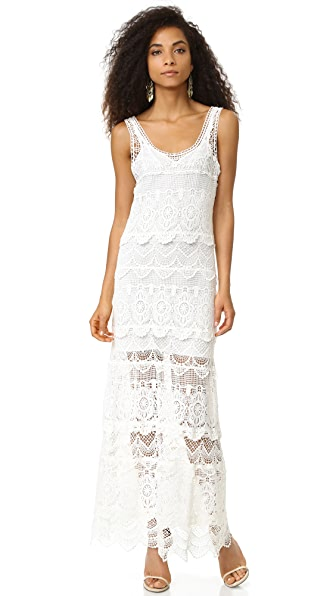 Haute Hippie Lace Layers Maxi Dress