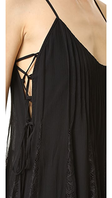 Haute Hippie Lace Inset Dress