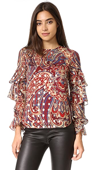 Haute Hippie Ruffle Blouse at Shopbop