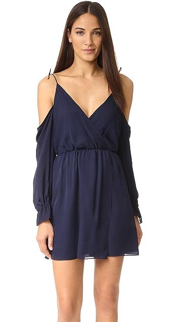 Haute Hippie Cold Shoulder Mini Dress