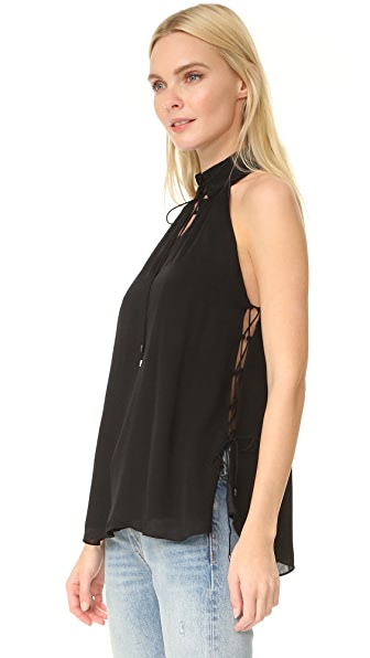 Haute Hippie Morrison Lace Up Blouse
