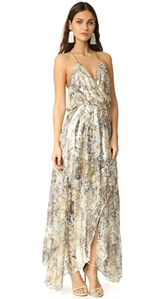 Haute Hippie Wrap Front Dress with Racer Back