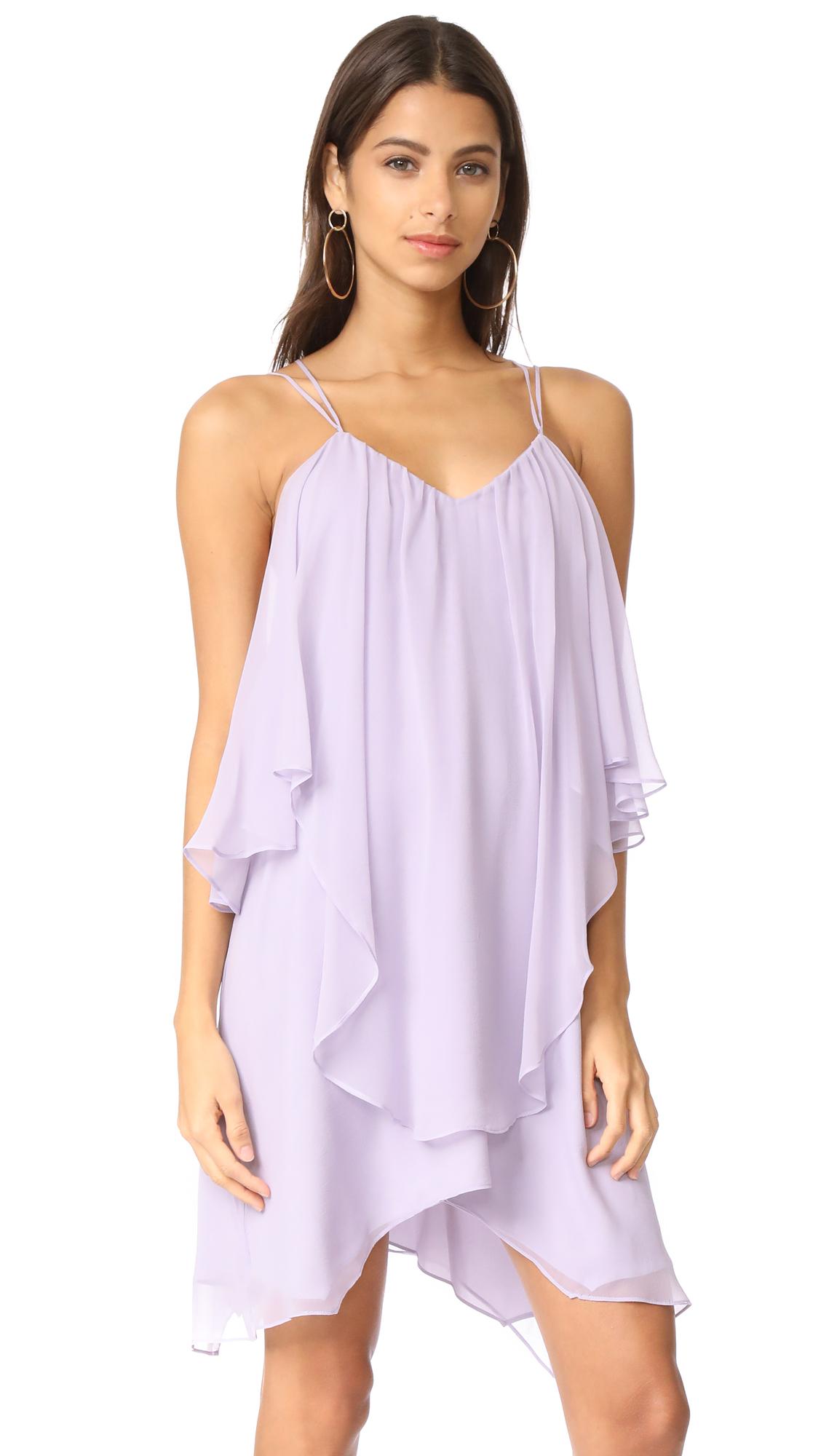 Haute Hippie Ruffle Tank Dress - Pale Violet