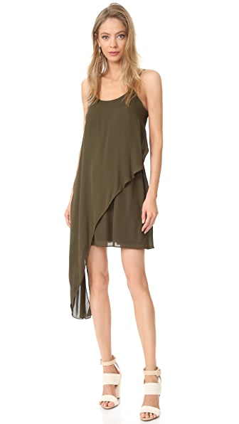Haute Hippie Cami Mini Dress In Military