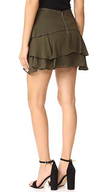 Haute Hippie Flirty Layer Skirt with Grommets