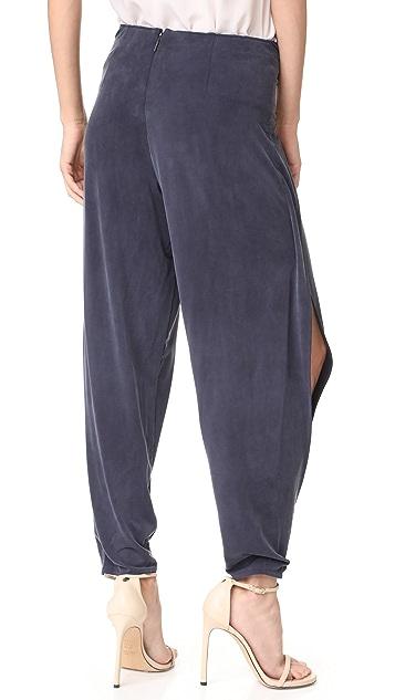 Haute Hippie Front Tie Harem Pants
