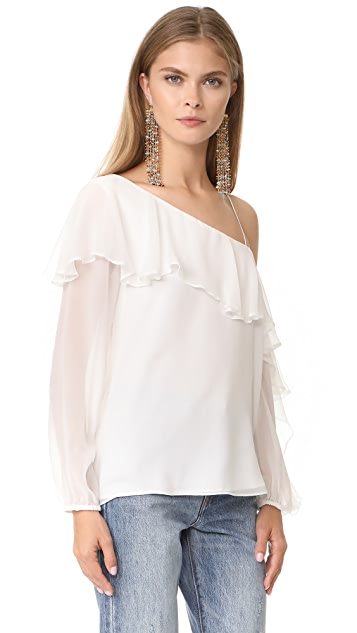 Haute Hippie One Shoulder Your Girl Blouse
