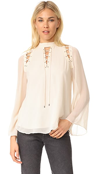 Haute Hippie Parkie Blouse - Antique