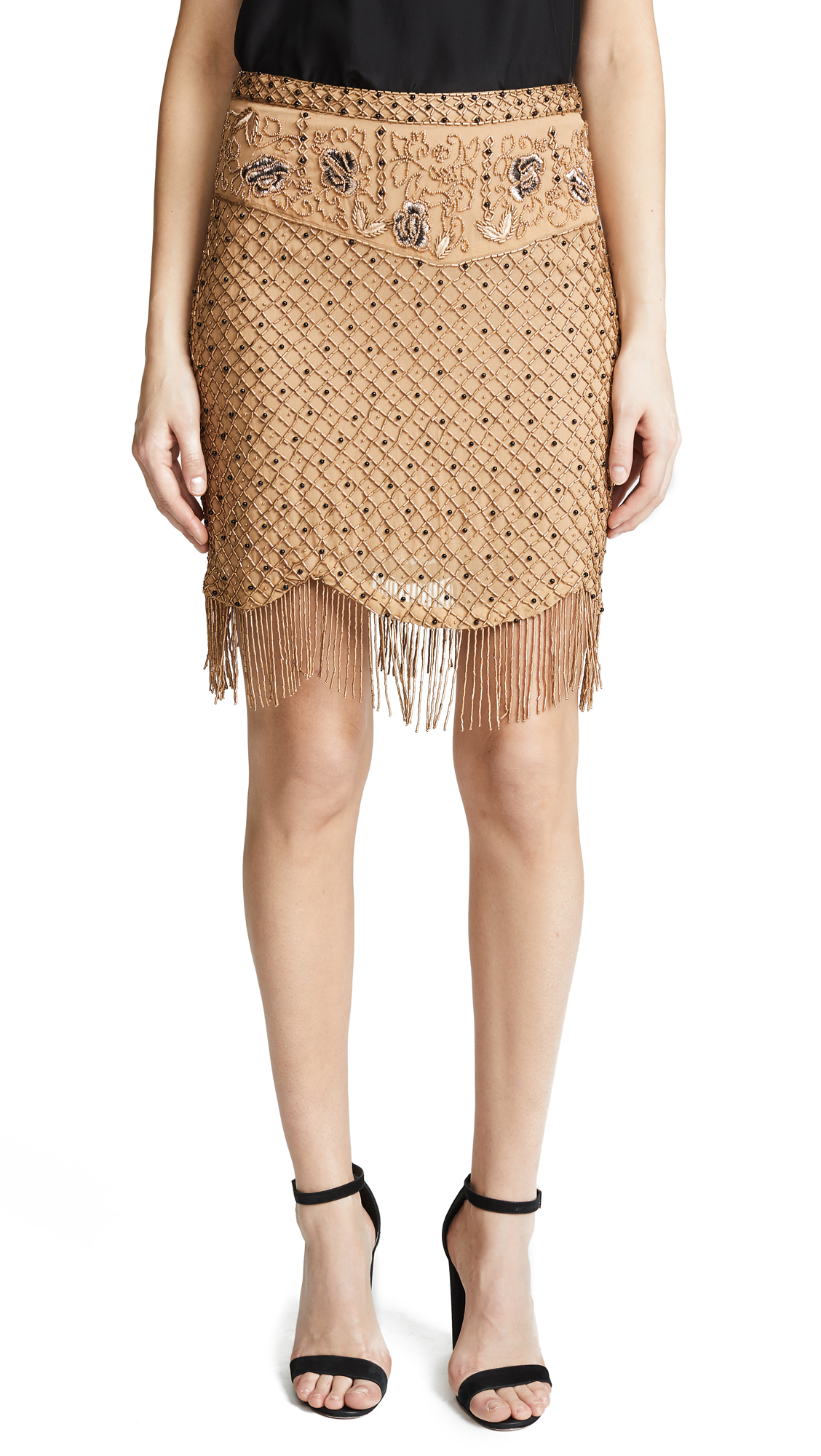 Haute Hippie Devere Miniskirt - Whiskey
