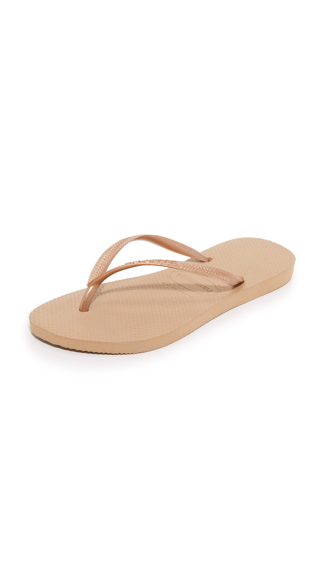 havaianas female 255807 havaianas slim flip flops rose gold