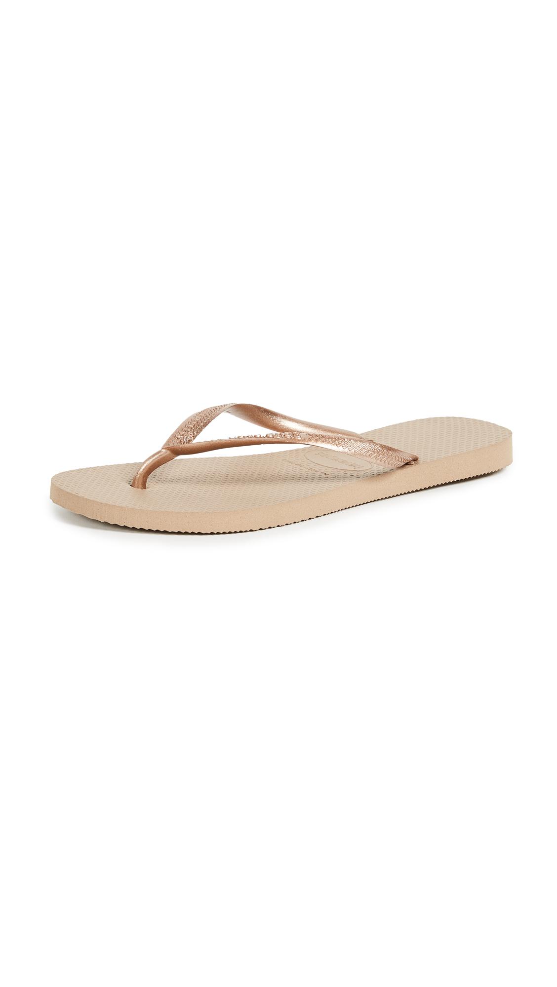 Havaianas Slim Flip Flops - Rose Gold