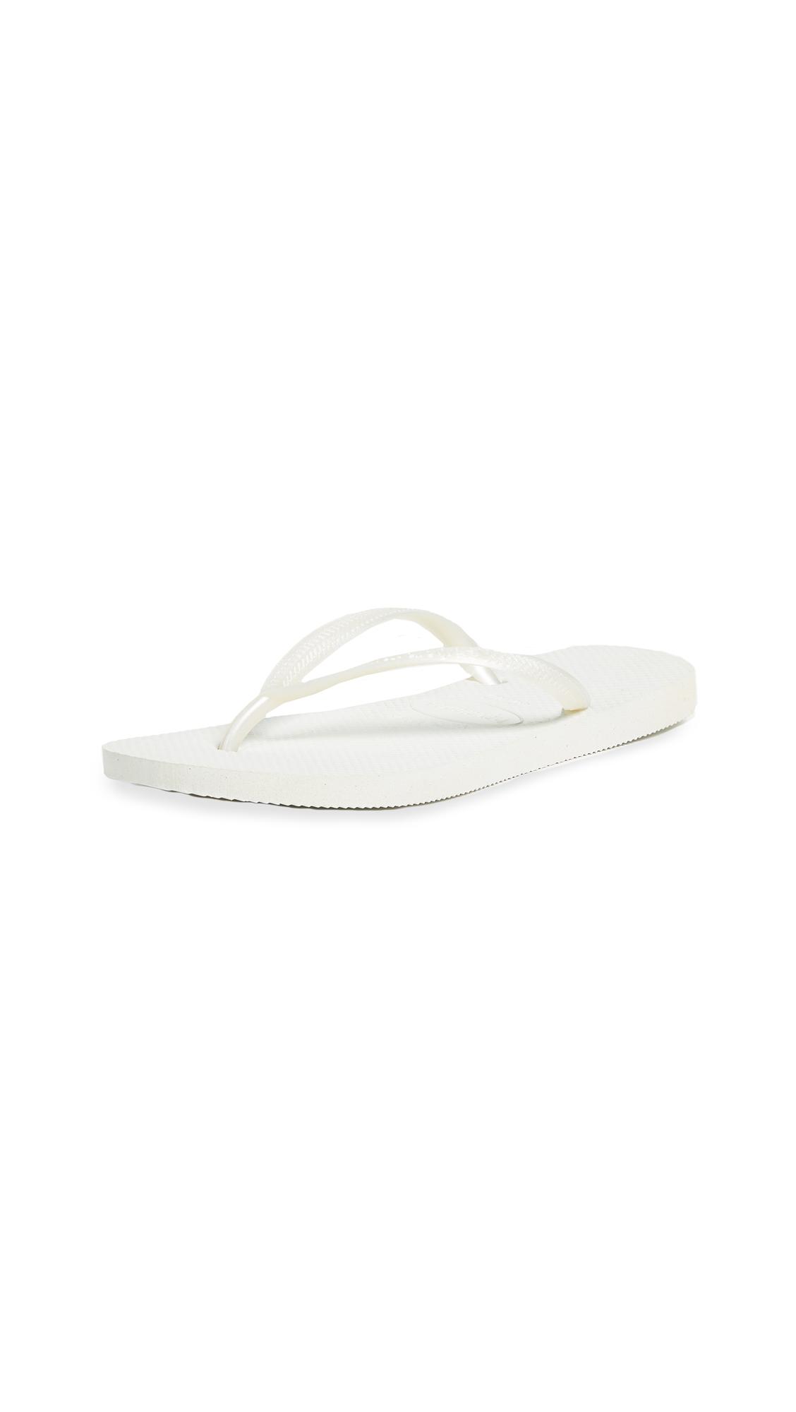 Havaianas Slim Flip Flops - White