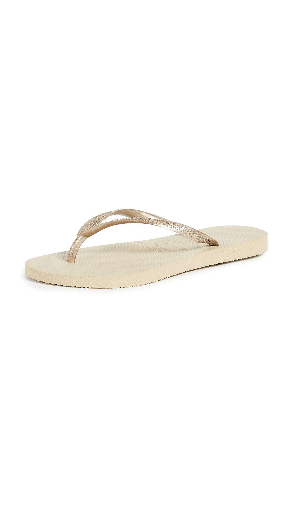 Havaianas Slim Flip Flops - Sand Grey/Light Golden