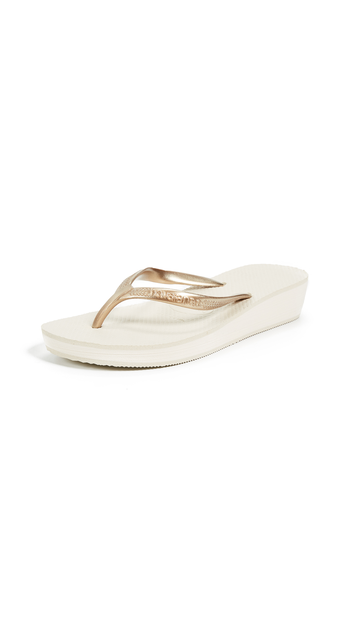 Havaianas High Light Wedge Flip Flop - Beige