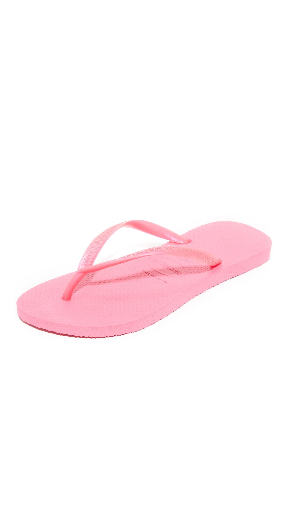 Havaianas Slim Flip Flops - Shocking Pink at Shopbop