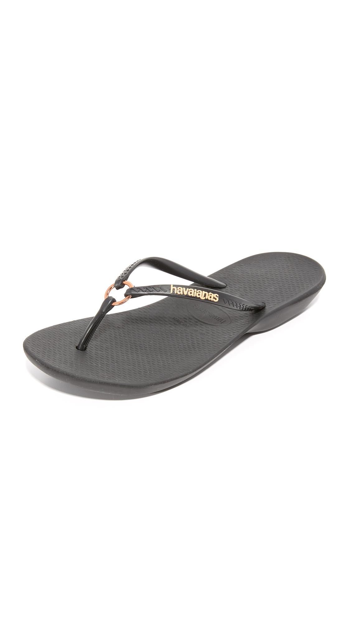 Havaianas Ring Flip Flops - Black at Shopbop