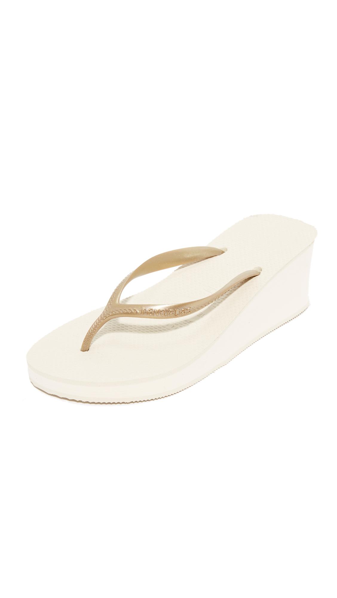 Havaianas High Fashion Wedge Sandals - Beige at Shopbop