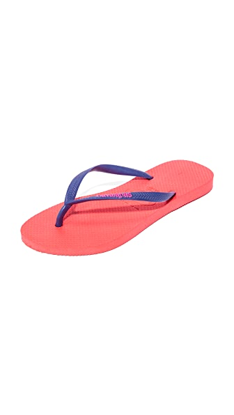 Havaianas Slim Logo Pop-Up Flip Flops - Coral