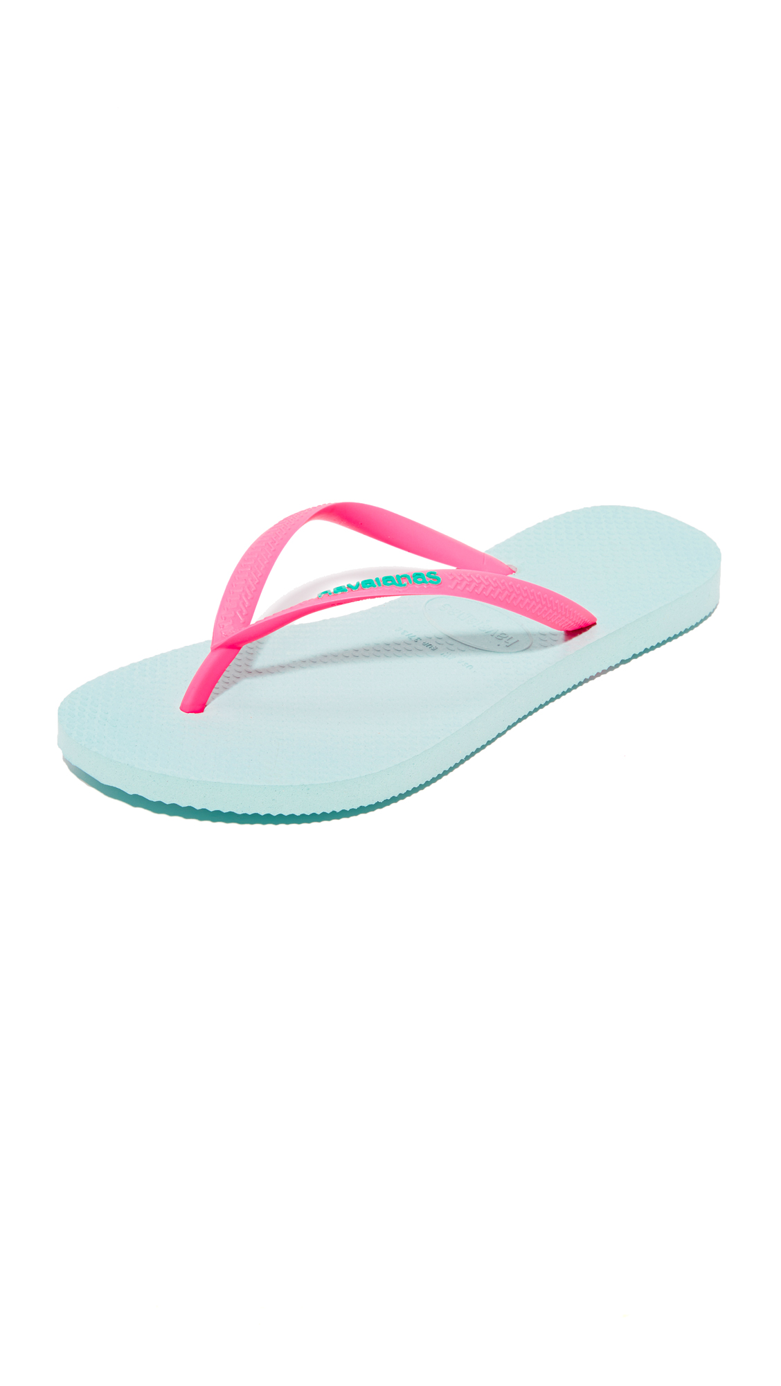 Havaianas Slim Logo Pop-Up Flip Flops - Mentha Green at Shopbop