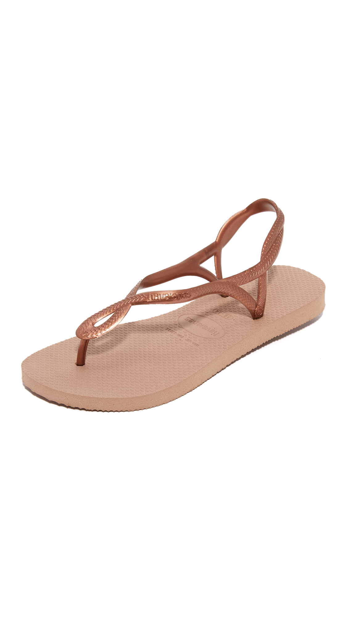 Havaianas Luna Sandals - Rose Gold/Rose Gold