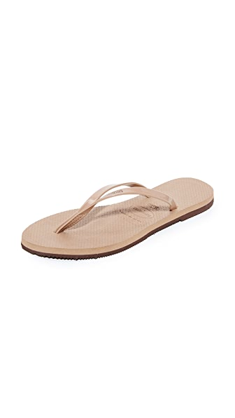 Havaianas You Metallic Flip Flops at Shopbop
