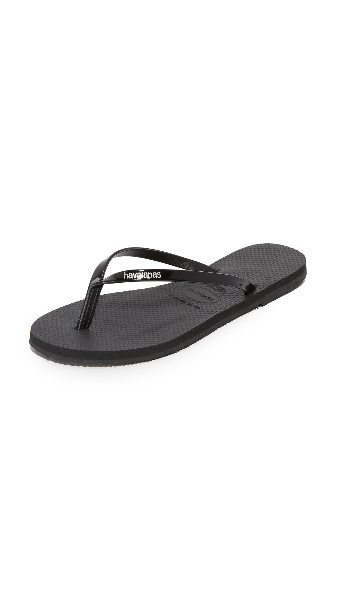 Havaianas You Metallic Flip Flops - Black at Shopbop