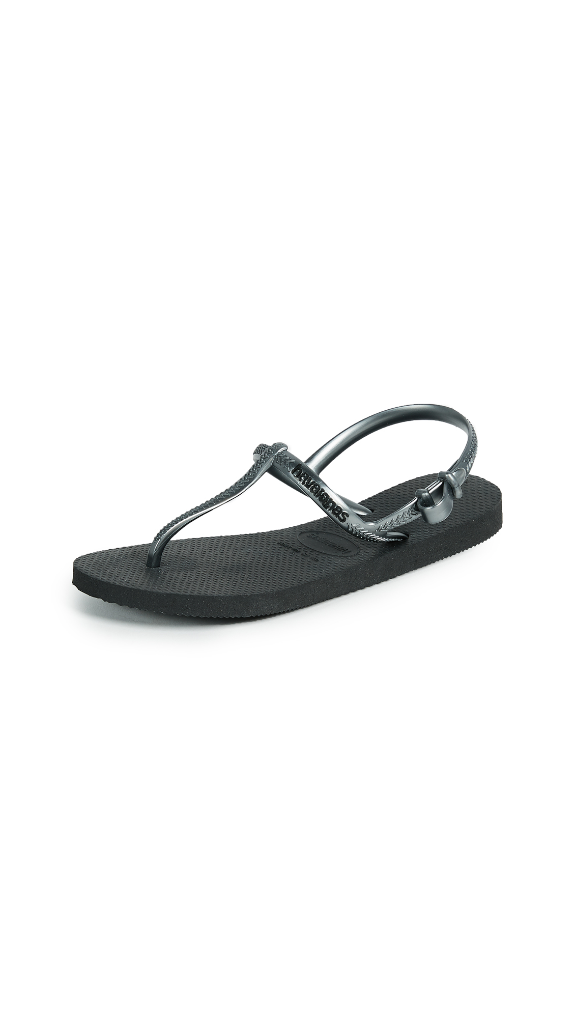 Havaianas Freedom T Strap Sandals - Black