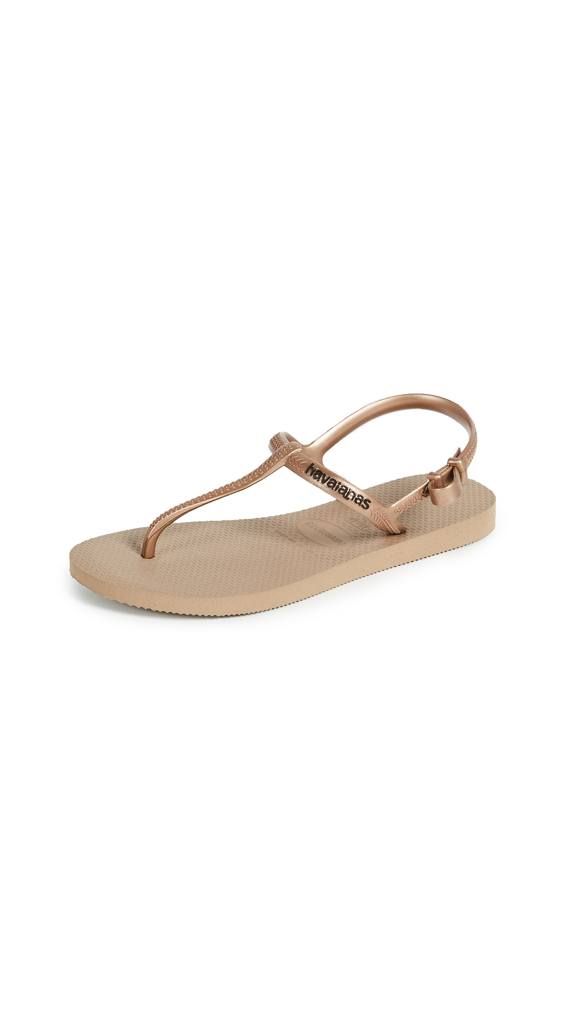 Havaianas Freedom T Strap Sandals - Rose Gold