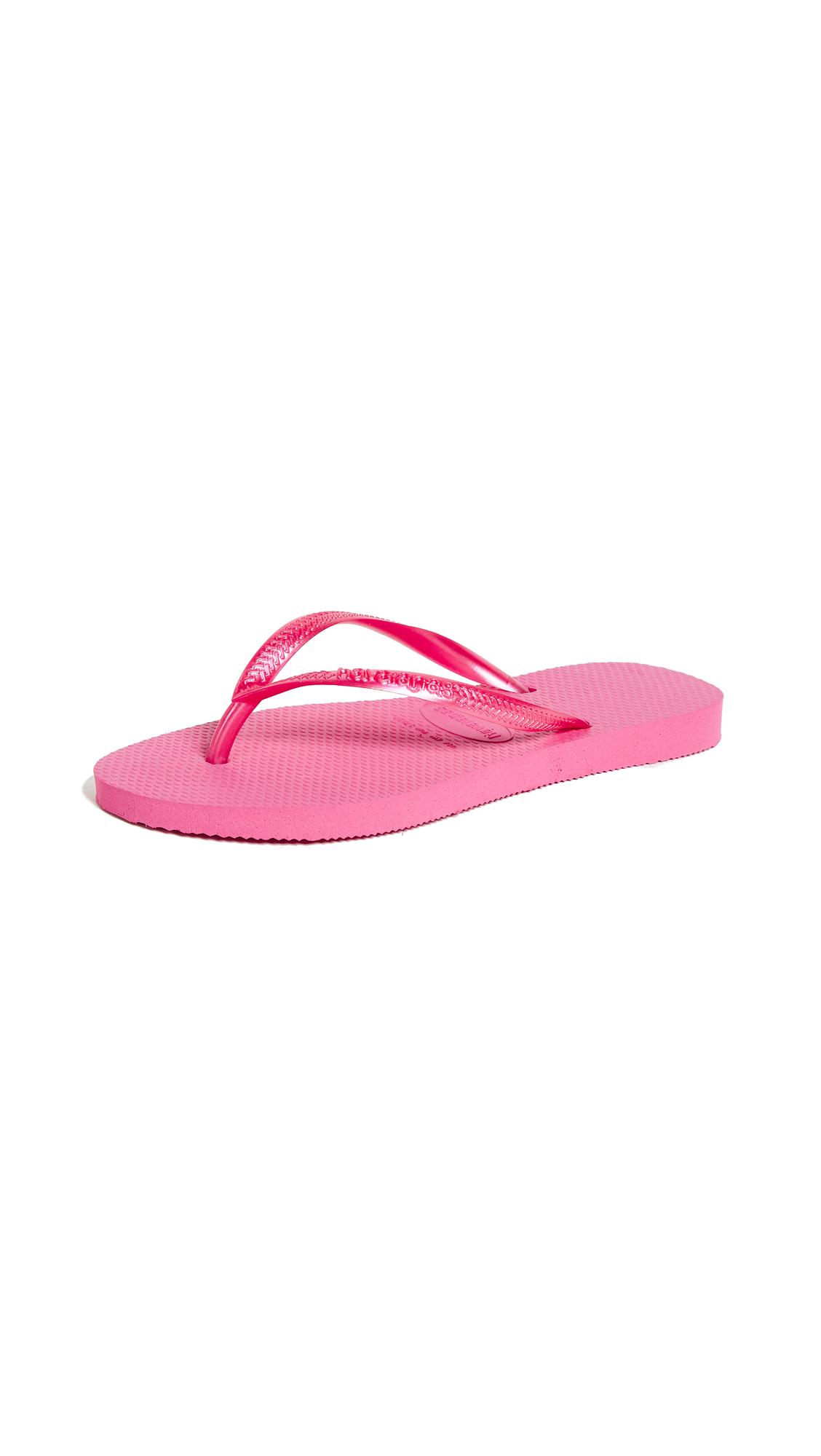 Havaianas Slim Flip Flops - Shocking Pink