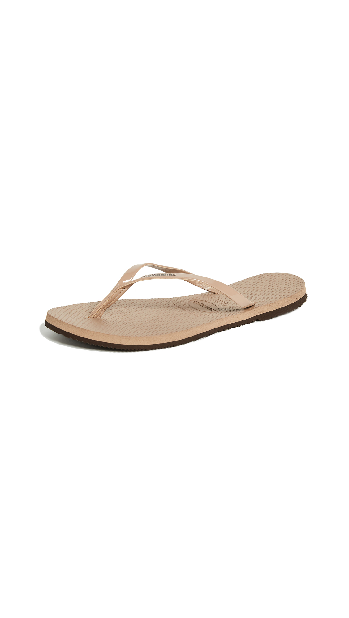 Havaianas You Metallic Flip Flops - Rose Gold