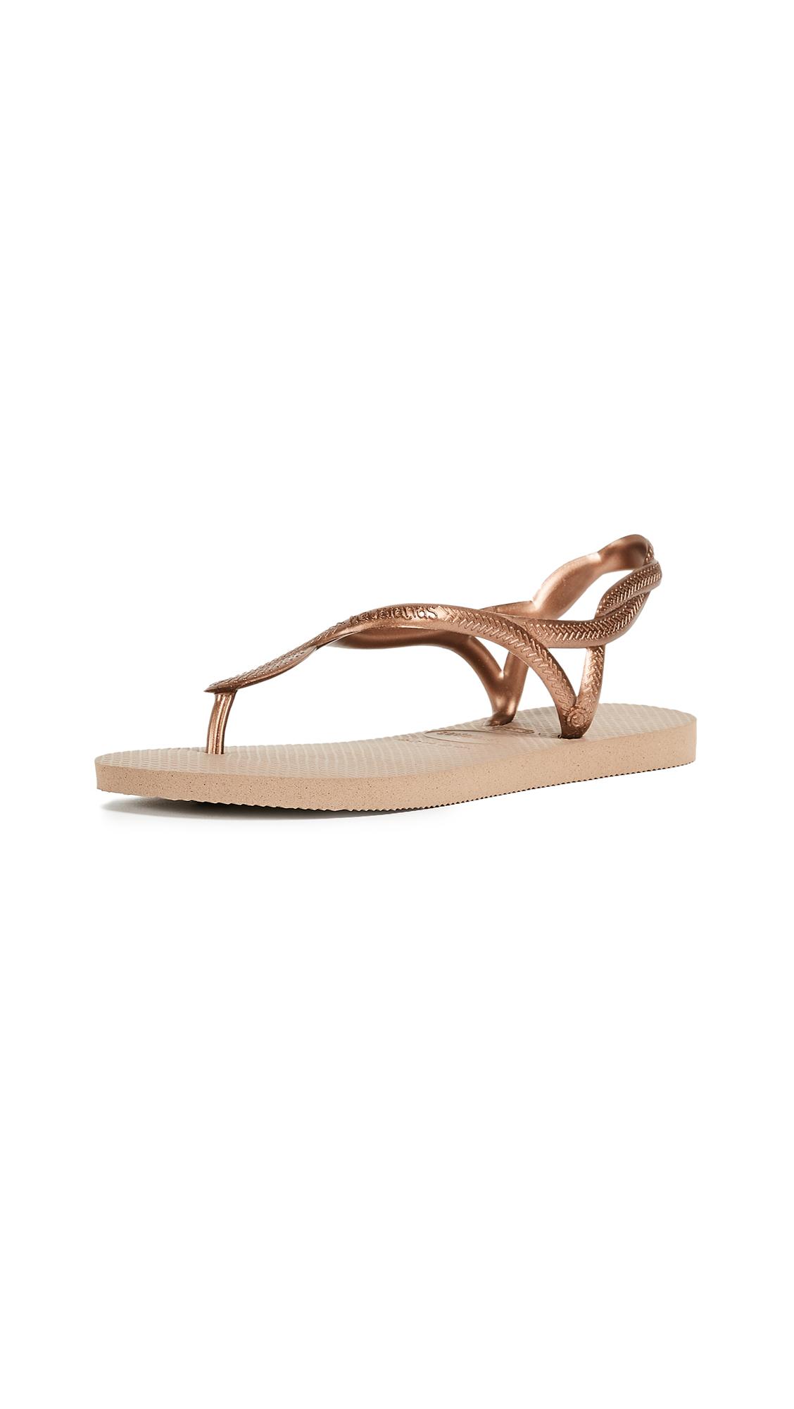 Havaianas Luna Sandals - Rose Gold/Rose Gold