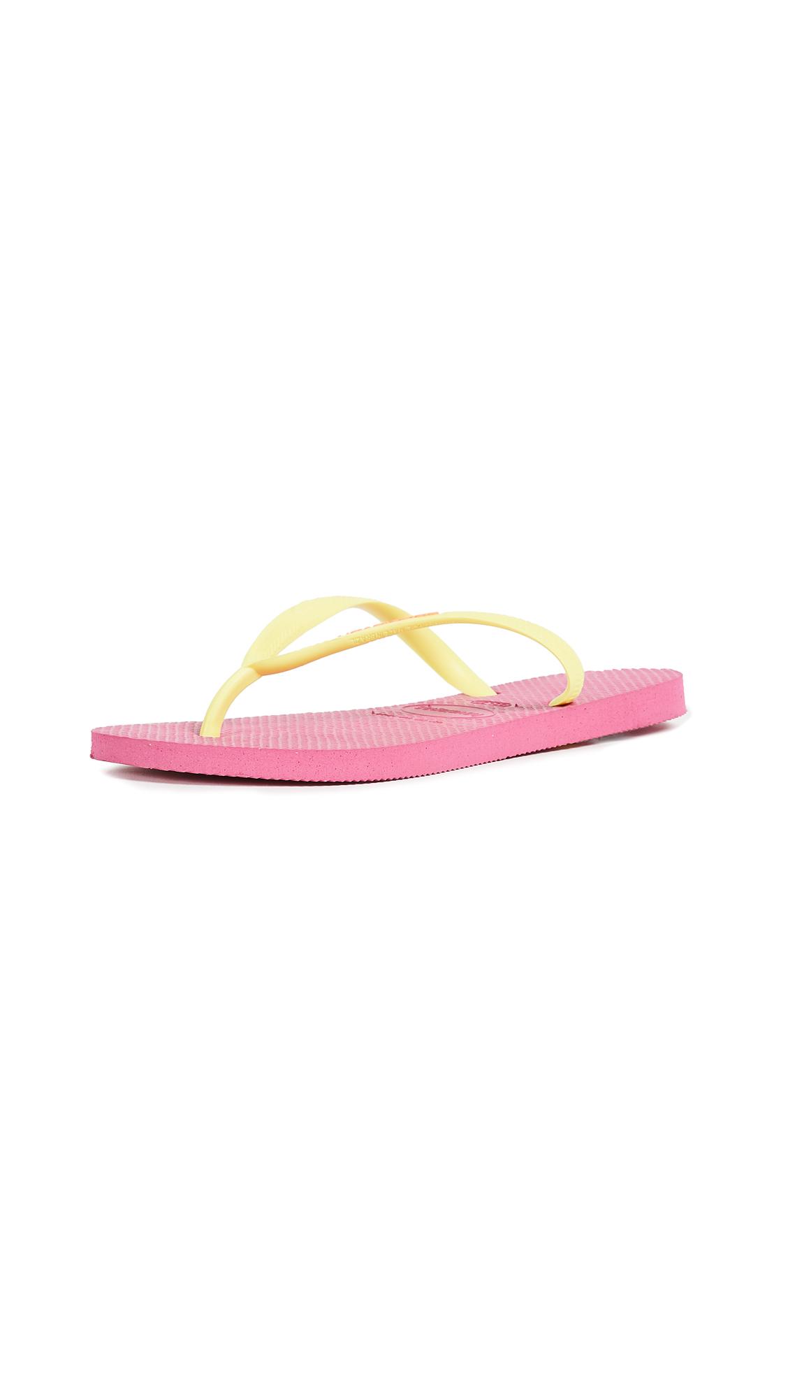 Havaianas Slim Logo Pop Up Flip Flops - Hollywood Rose