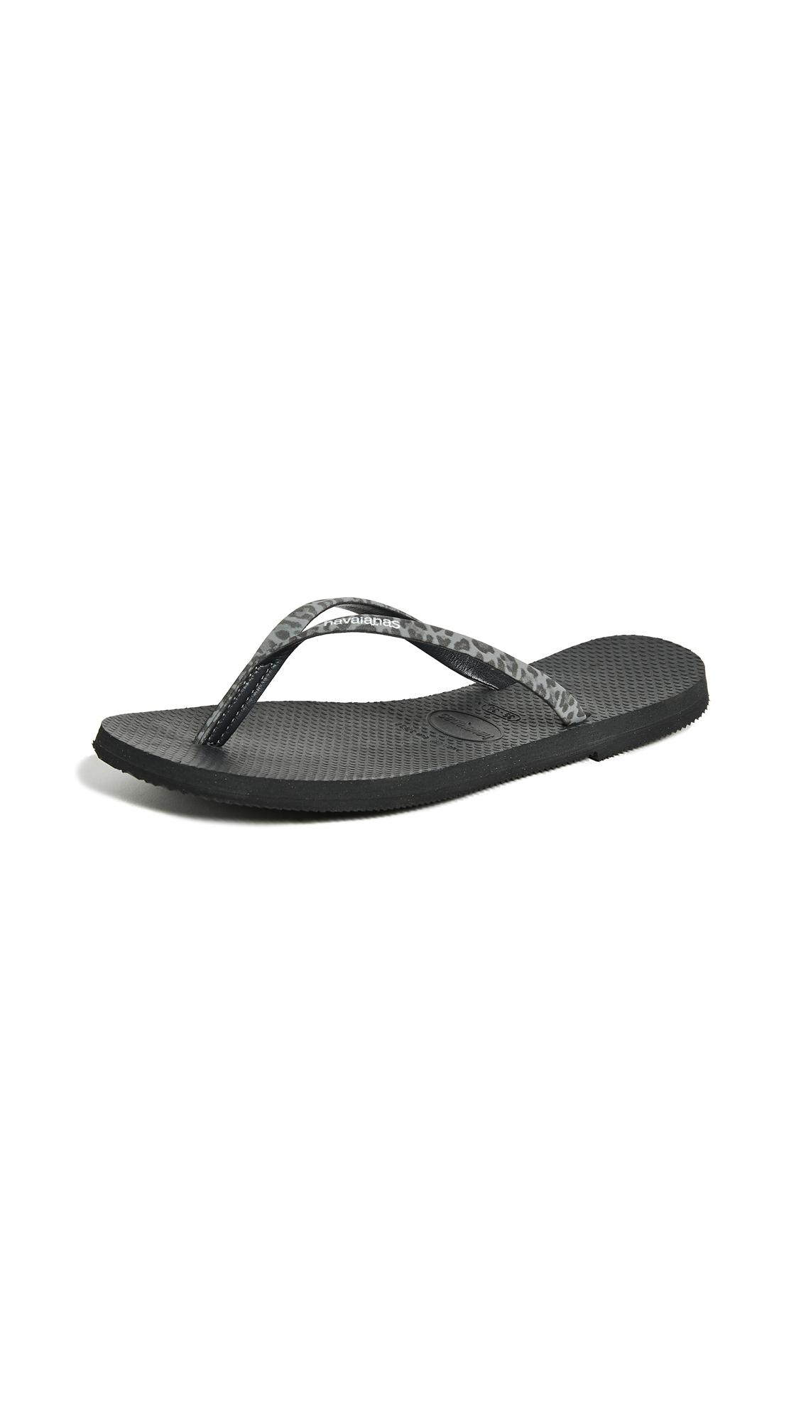 Havaianas You Animals Flip Flops - Black