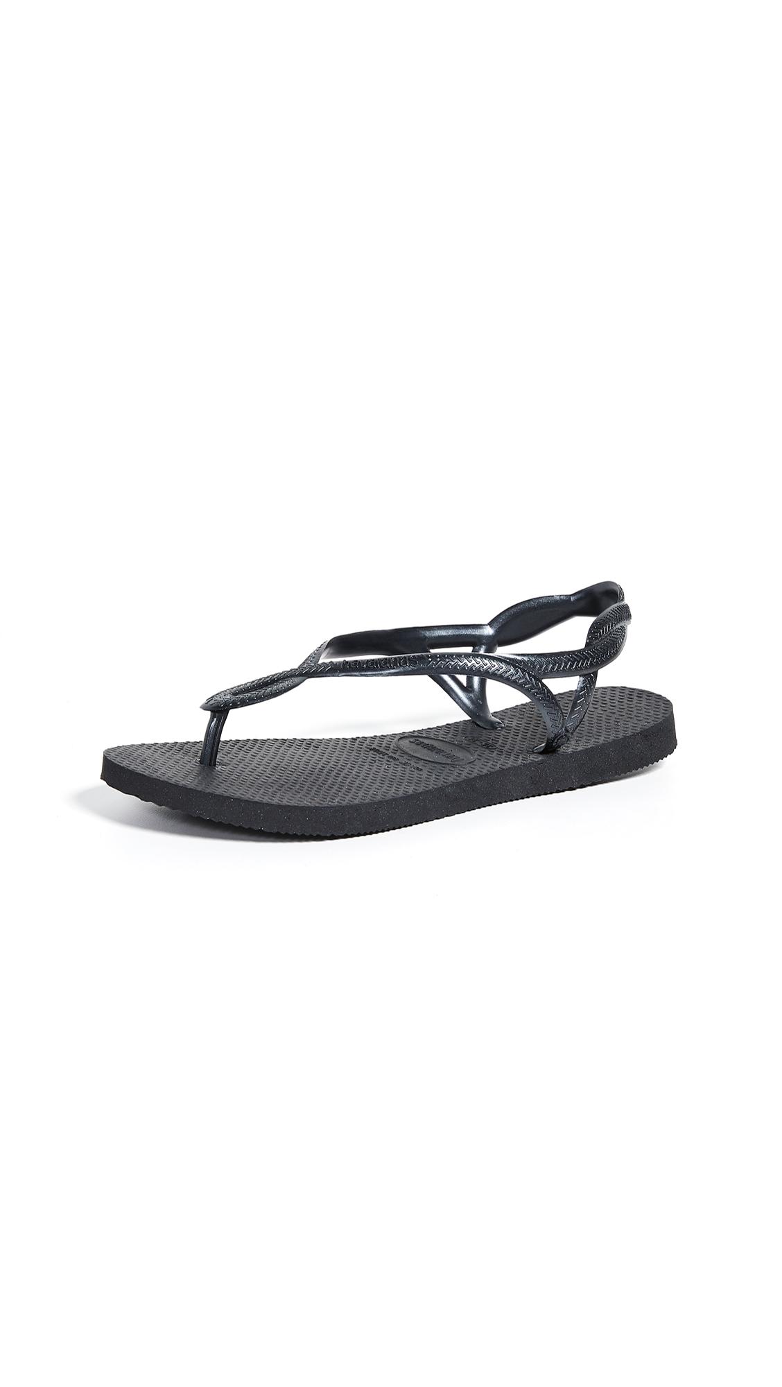 Havaianas Luna Sandals - Black