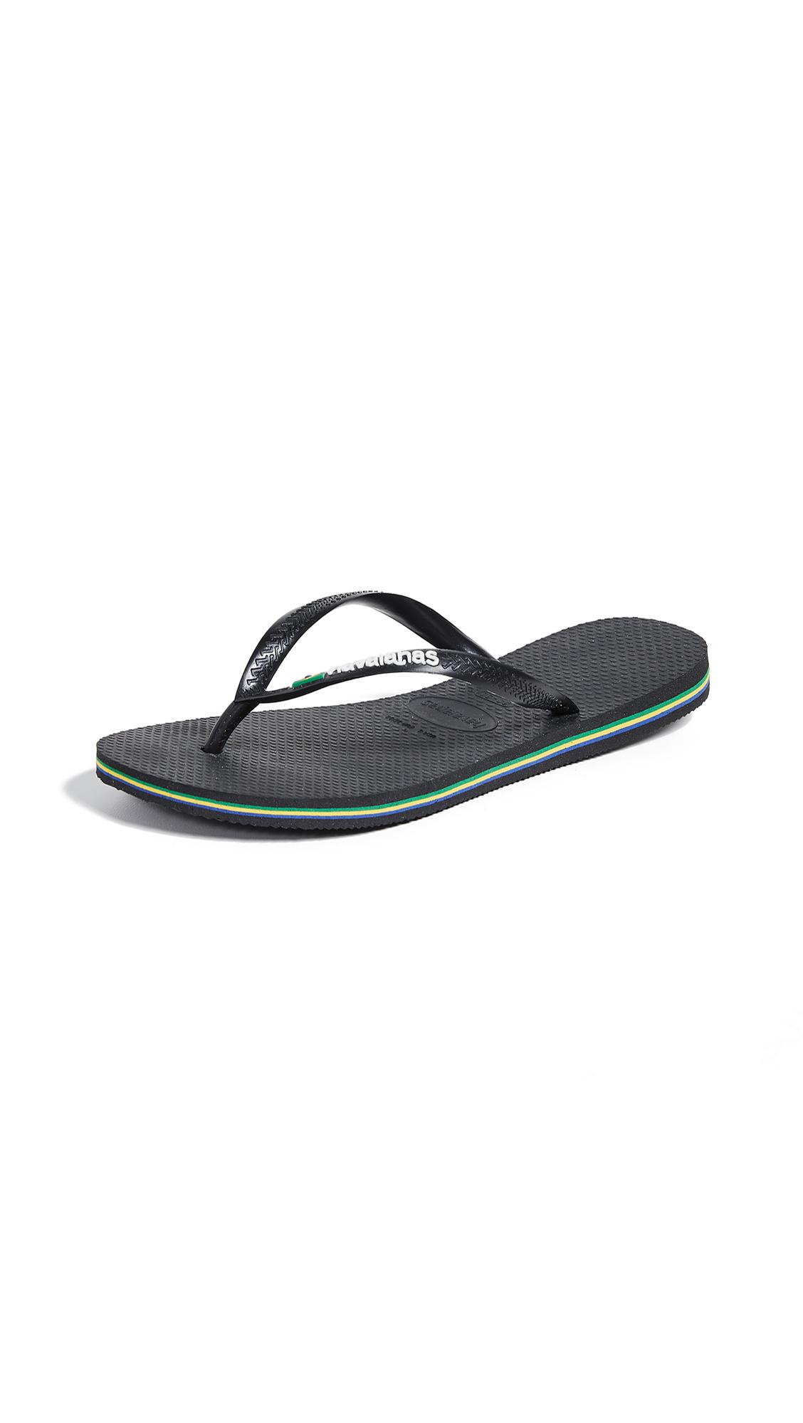 Havaianas Slim Brazil Flip Flops - Black