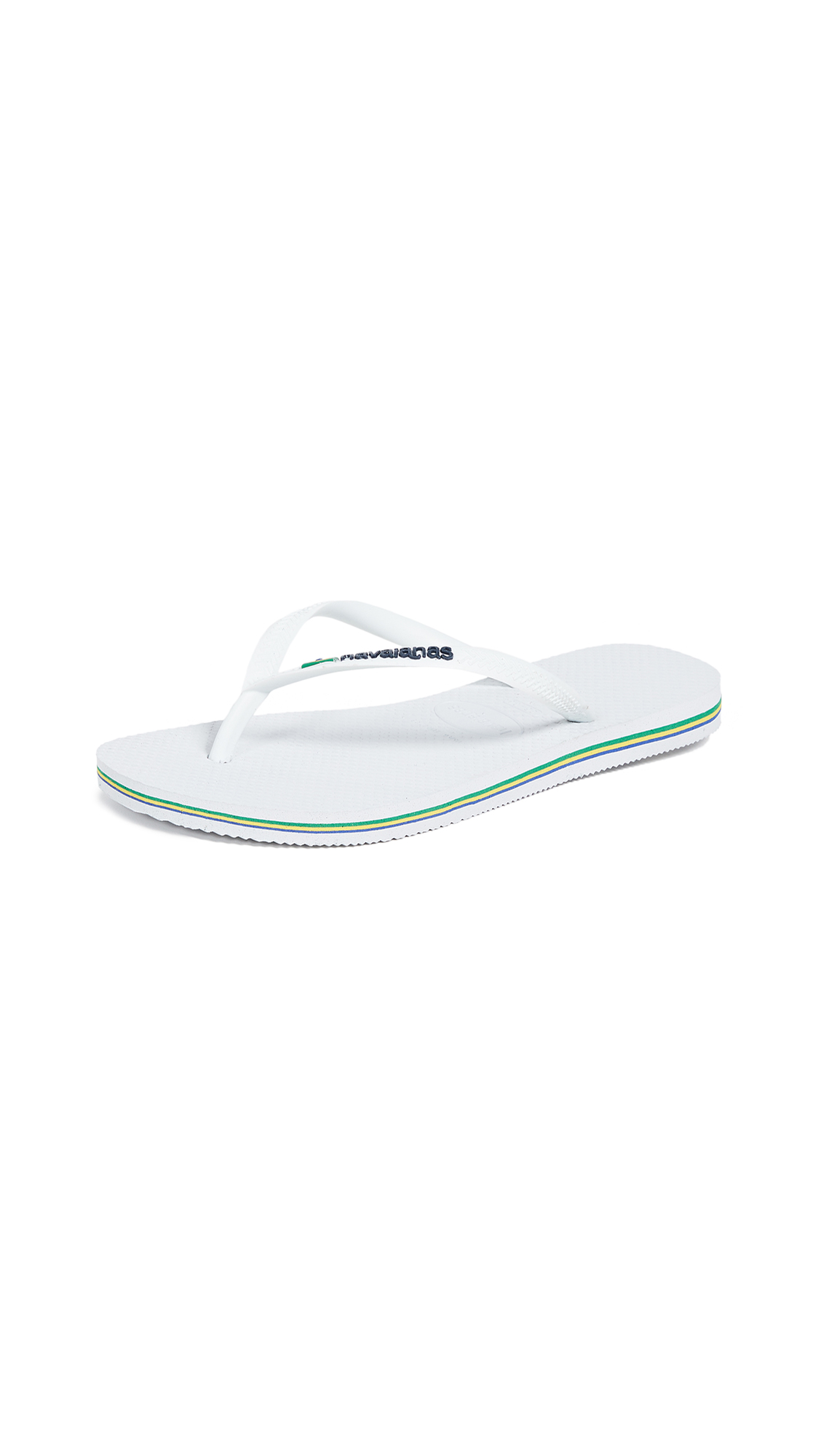 Havaianas Slim Brazil Flip Flops - White