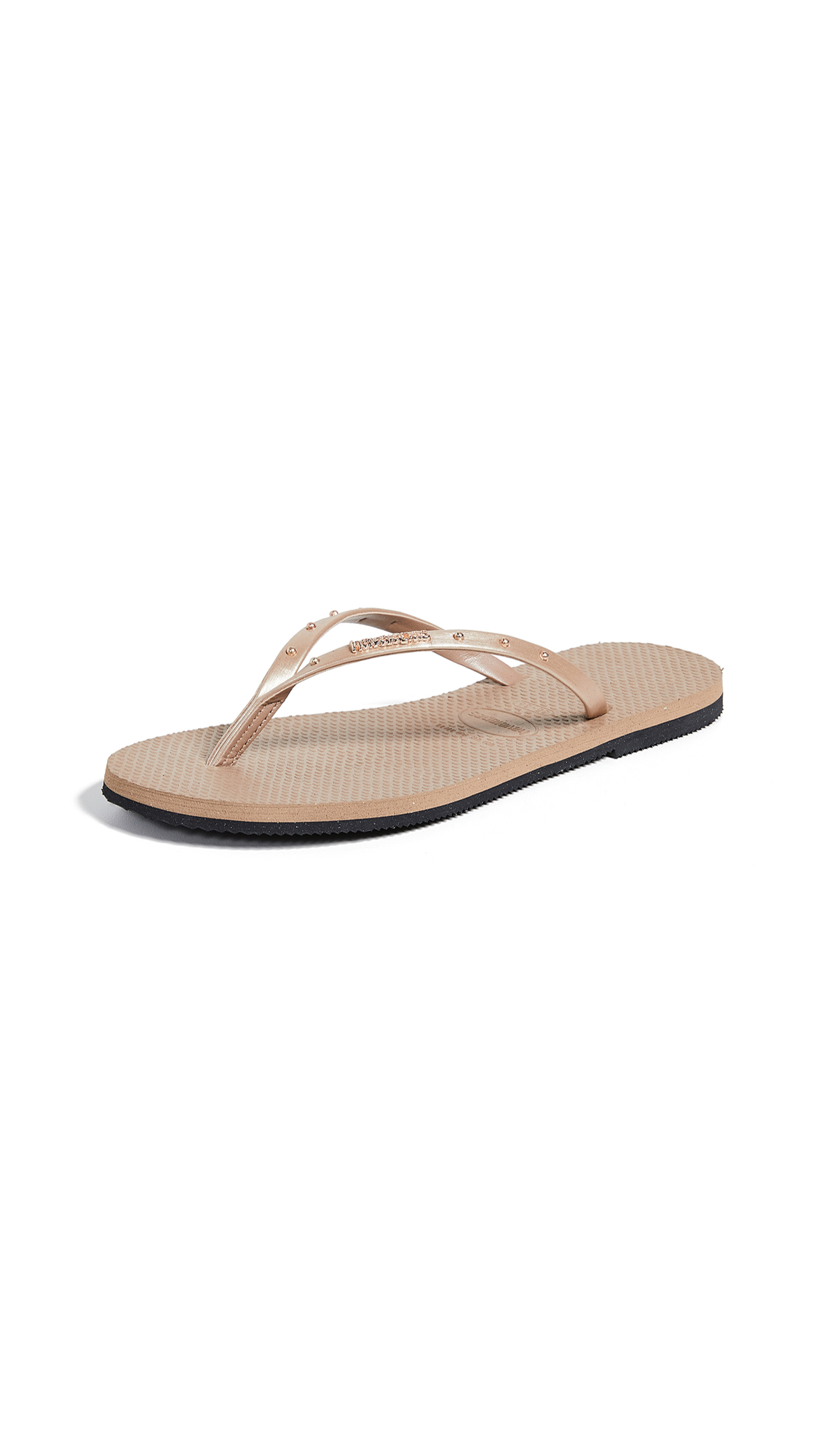 Havaianas You Maxi Flip Flops - Rose Gold