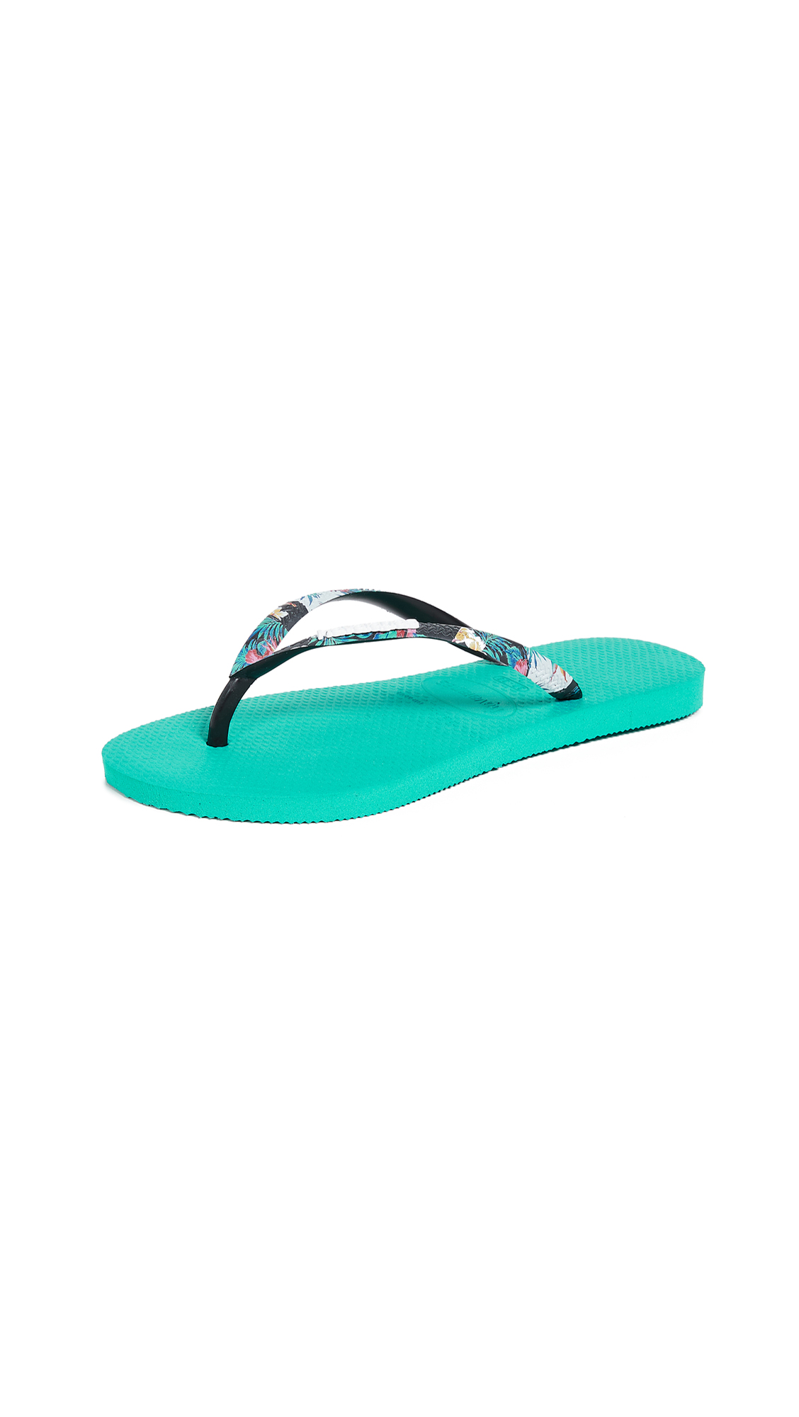 Havaianas Slim Strapped Flip Flops - Lake Green
