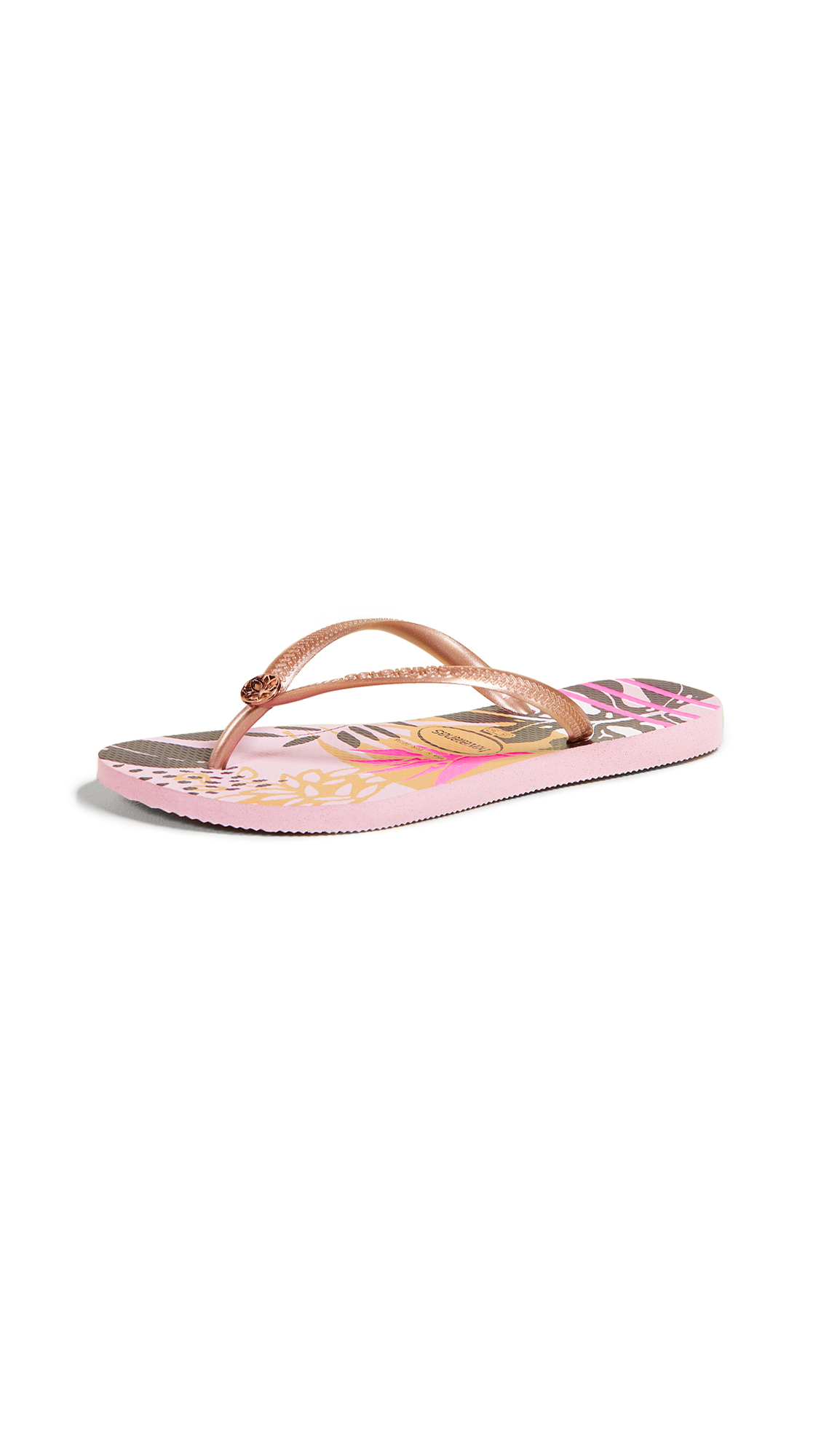 Havaianas Slim Follage Flip Flops - Rosa Quartz
