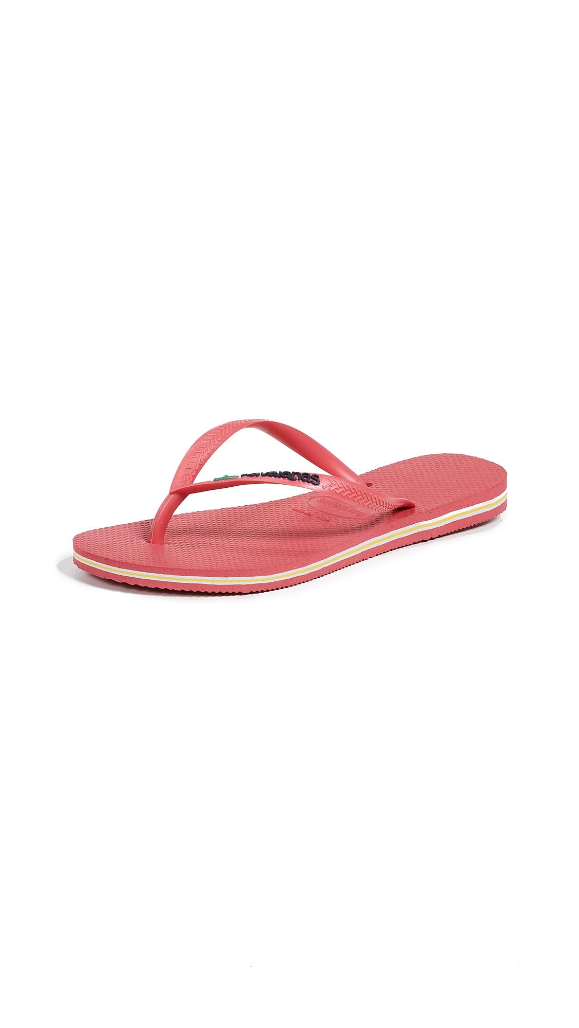Havaianas Slim Brazil Flip Flops - Flamingo