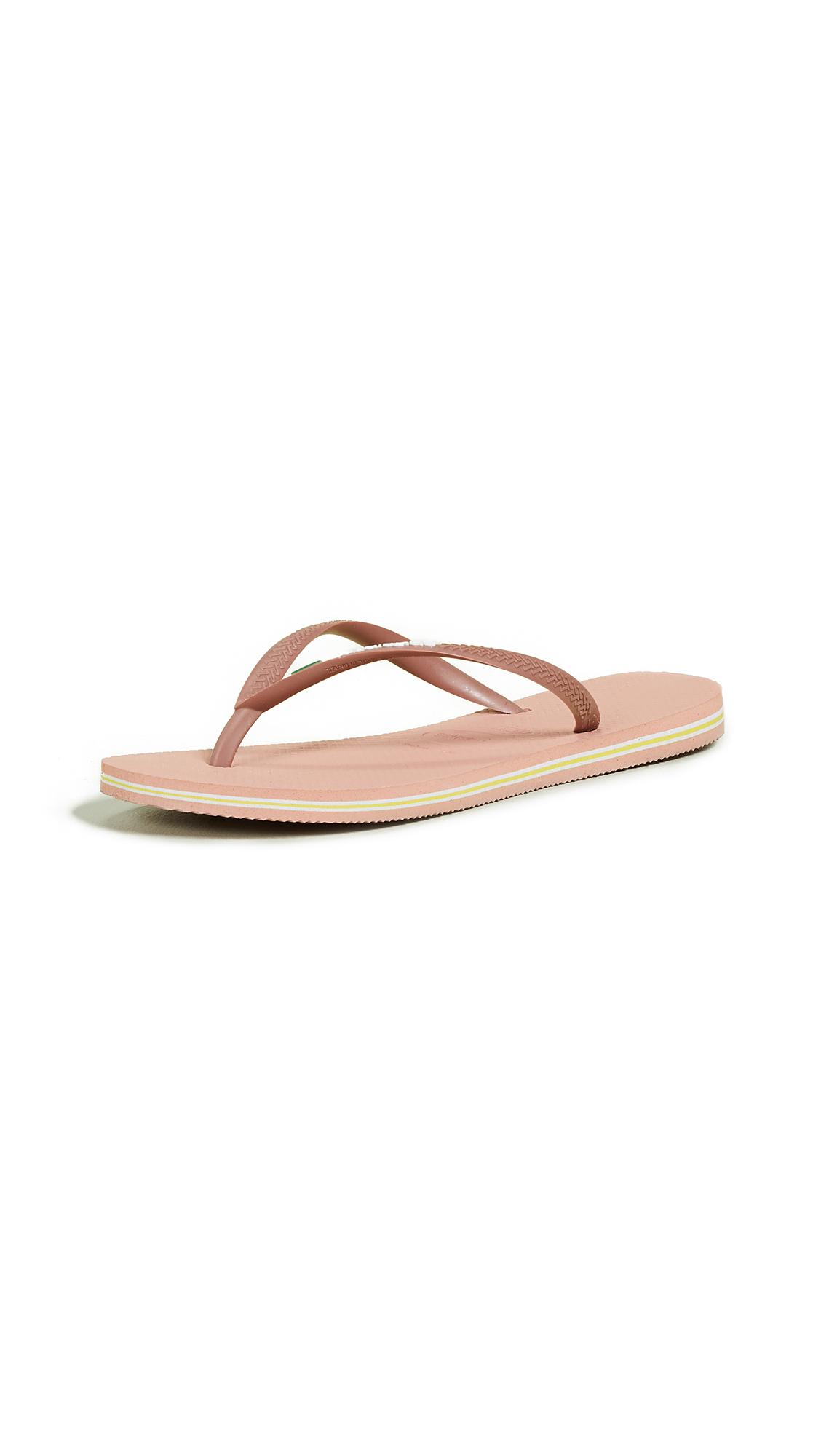 Havaianas Slim Brazil Flip Flops - Rose Nude